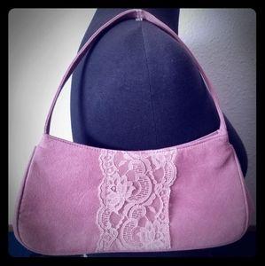 Victoria Secret rose pink lace purse